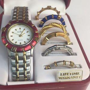 Peugeot Women's silver Interchangeable Watch Set